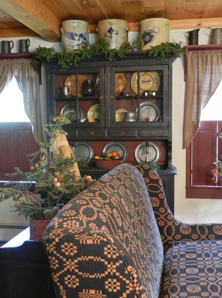 1000 images about primitive living rooms on pinterest for Primitive interior designs
