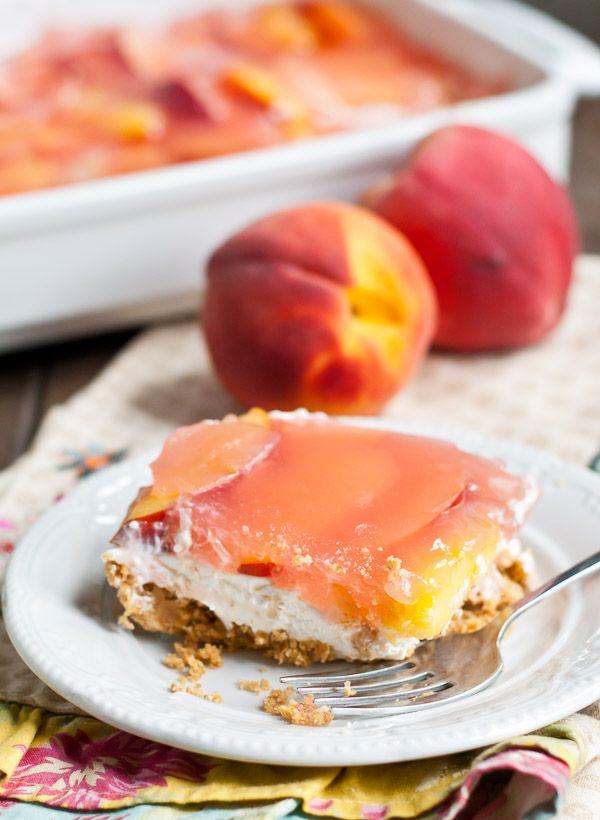 No Bake Peach Delight FoodBlogs.com
