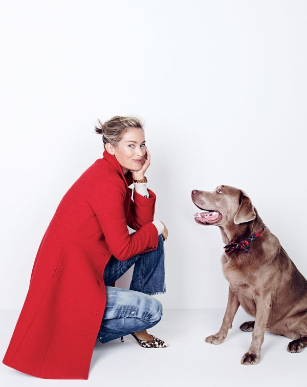 J.Crew women's double-cloth lady day coat with Thinsulate®, Fair Isle crewneck sweater, Point Sur Stevie X-rocker jean in Mill Creek wash and Collection Colette calf hair d'Orsay pumps. To pre-order, call 800 261 7422 or email verypersonalstylist@jcrew.com.