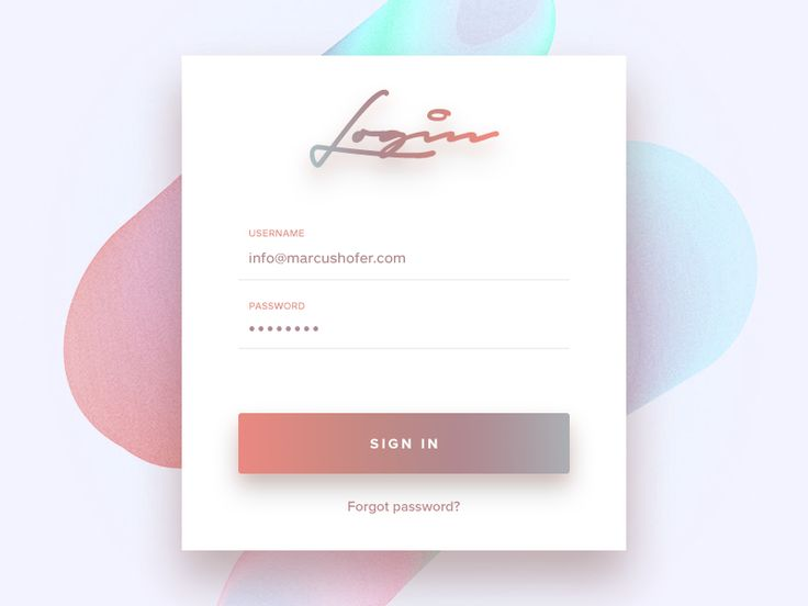 #001 // Login Form by Marcus Hofer