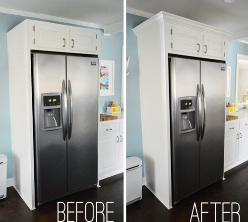 Add Molding To Kitchen Cabinets: 47 Best Images About Apartment Fridge On Pinterest