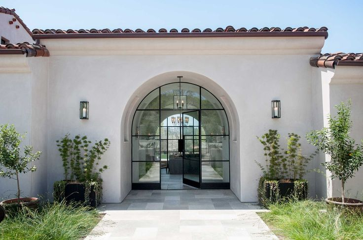 Gorgeous front door, architecture, landscaping