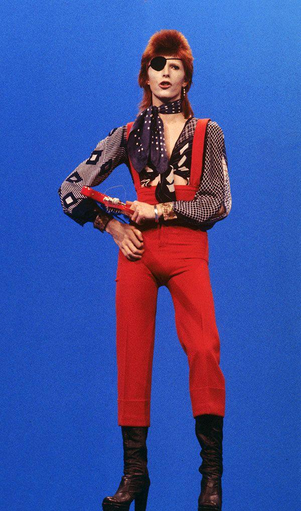 David Bowie from Rebel Rebel video 70s.