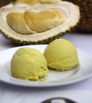 DURIAN ICE CREAM RECIPE WITH YOUNG COCONUT