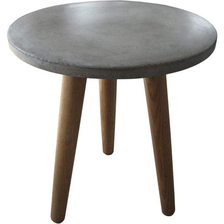 Cola Side Table is made of concrete and wood base