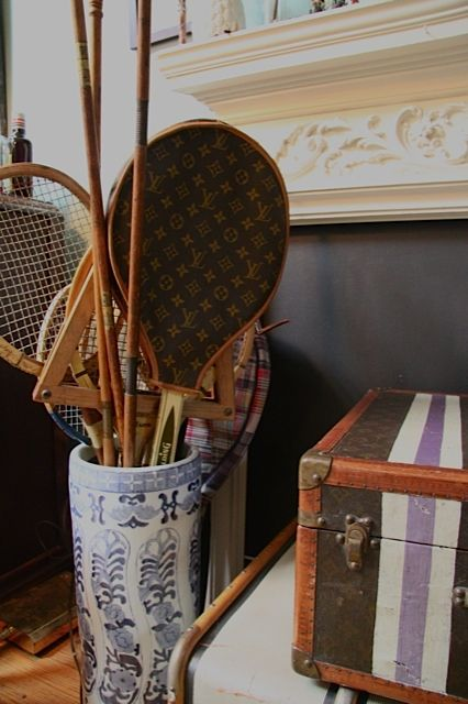 Perhaps an extra blue and white Chinese porcelain umbrella stand or two to store tennis racquets, badminton racquets, and my vintage polo sticks.