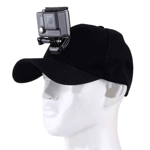 For Go Pro Accessories Canvas Baseball Hat Cap W J Hook Buckle Mount Screw For Gopro Hero5 Hero4 Session Sports Action Camera Sports Camera Gopro Accessories