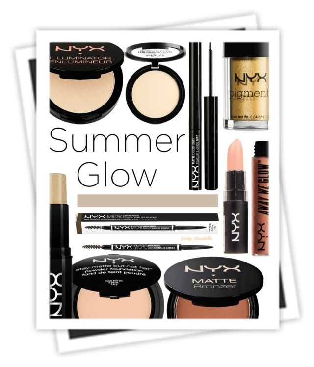 """""""Golden Goddess - Summer Glow: 28/06/17"""" by pinky-chocolatte ❤ liked on Polyvore featuring beauty, NYX, Charlotte Russe and GALA"""