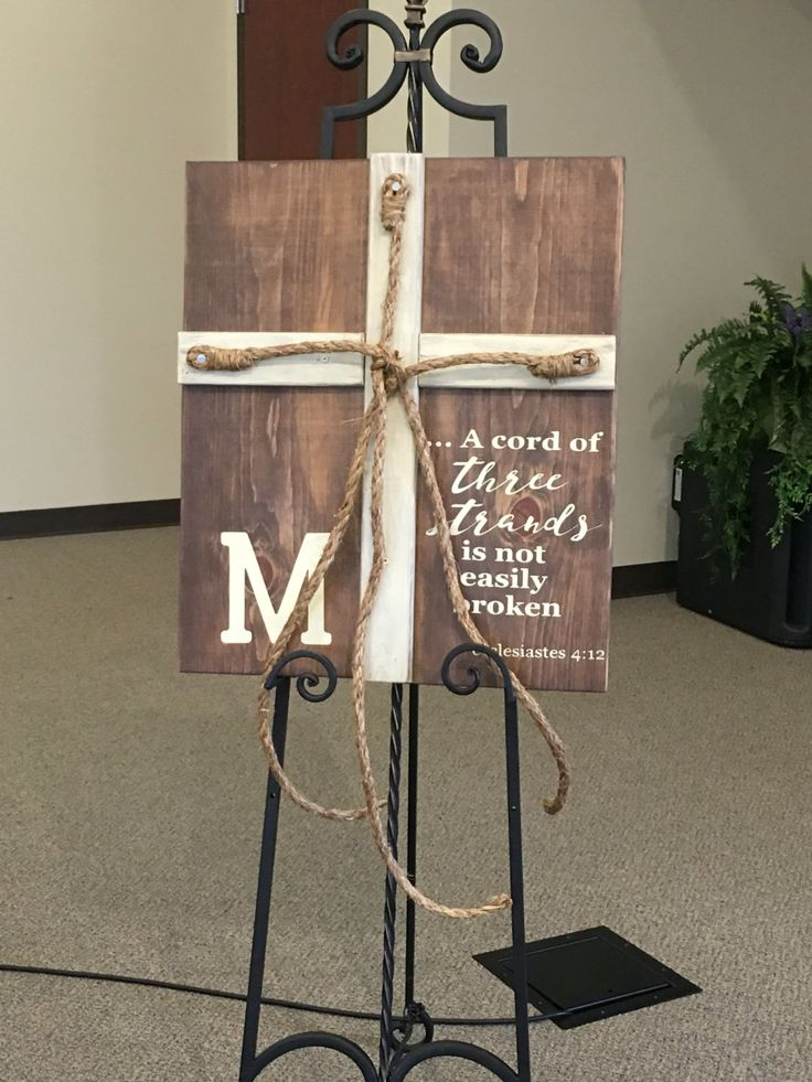 A cord of three strands is not easily broken wedding wood sign, 3 sizes available by JusDoodlin on Etsy https://www.etsy.com/listing/475057567/a-cord-of-three-strands-is-not-easily