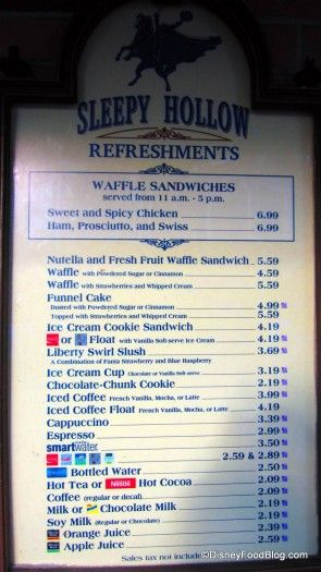 New! Waffle Sandwiches at Magic Kingdom's Sleepy Hollow | the disney food blog