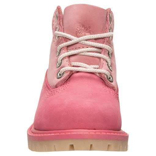 Made for tough toddlers who won't let any weather stop them, the Girls' Toddler Timberland 6 Inch Classic Premium Boots keep her feet warm and dry, thanks to waterproof leather and seam-sealed constru
