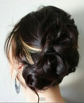 pretty wedding hairHair Ideas, Wedding Hair, Hair Tutorials, Hair Colors, Dark Hair, Bridesmaid Hair, Hairstyles Inspiration, Beautiful, Hair Style