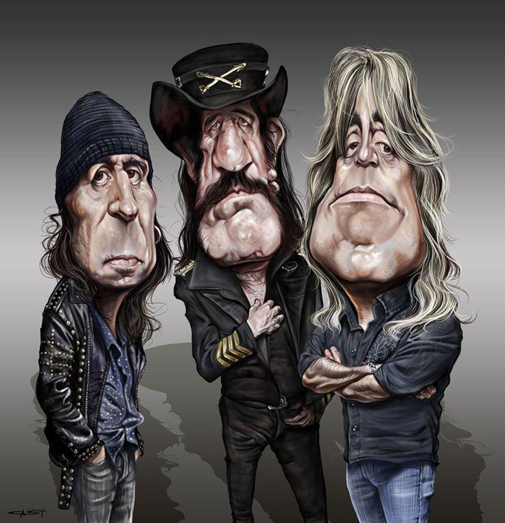 "Motorhead - Phil ""Wizzö"" Campbell, Ian ""Lemmy"" Kilmister & Mikkey Dee by Sebastian Cast"