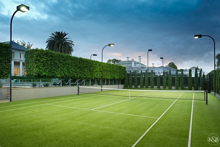Amazing tennis court. 35 Sackville Street, Kew.