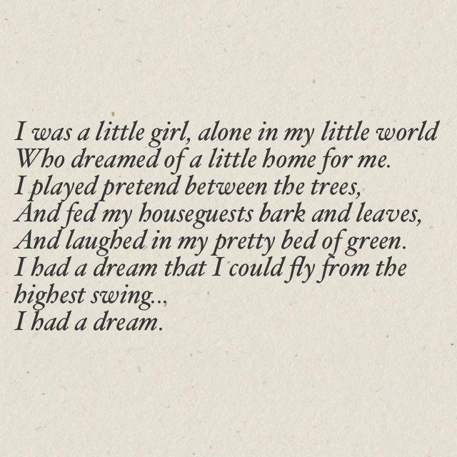 """I was a little girl, alone in my little world"" Priscilla Ahn - Dream"
