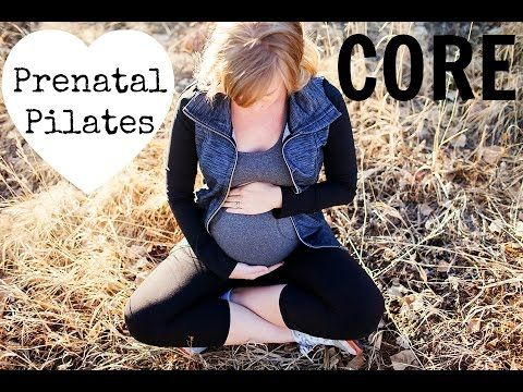 Prenatal Pilates workout on YouTube that's all about building a strong core for pregnancy, labor & delivery. #pregnancy #pregnancyworkout