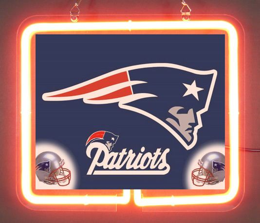 England Patriots Helmet Brand Neon Light Sign @9