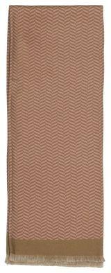 Šála ze 100% silnějšího (zimního) hedvábí rukávového střihu ve starorůžové barvě s jemným vzorkem rybí kostry.