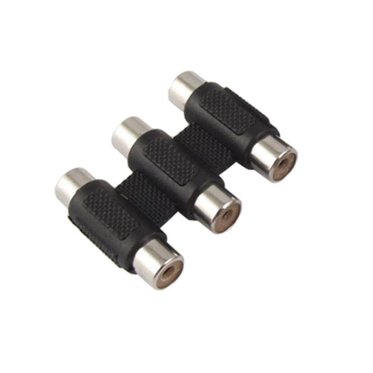 UXCELL 3 Pcs Rca Female To Female Av Coupler Adapter