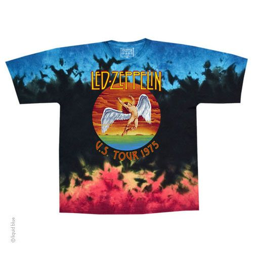 Zeppelin Tour Swan Graphic Beautiful hand dyed tee One of a kind!! 100% cotton
