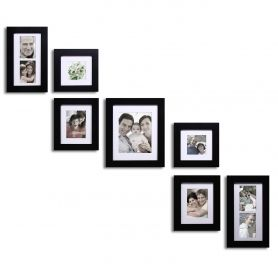 adeco 7 piece collage picture frame set