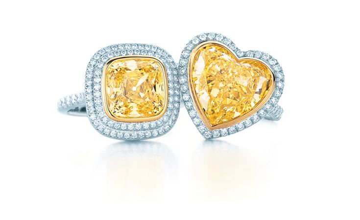 Tiffany & Co, yellow and white diamond rings