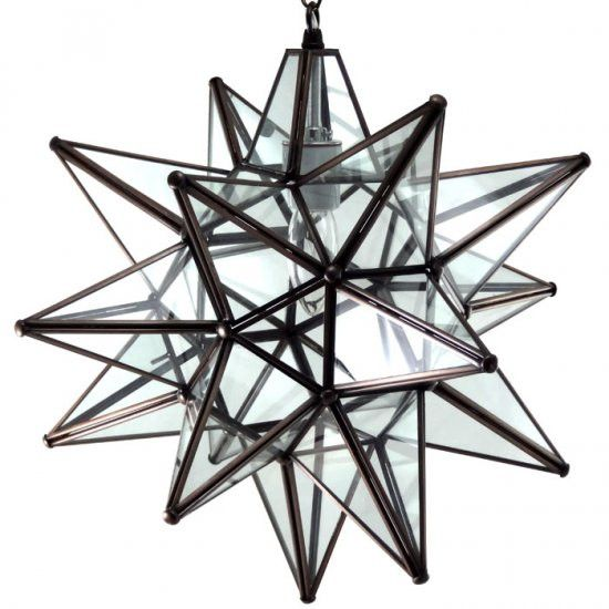 moravian clear glass star light - Star Pendant Light