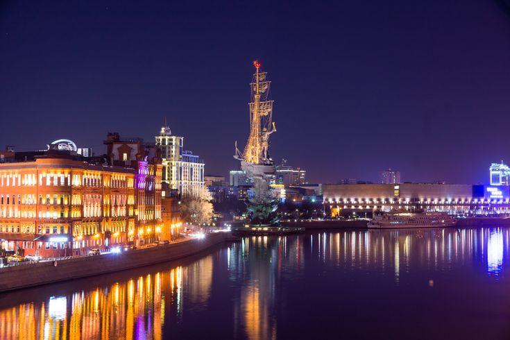 Ночная Москва – фотографии ночной Москвы 2016 года. Бесплатные фотографии Москвы ночью в высоком разрешении.…
