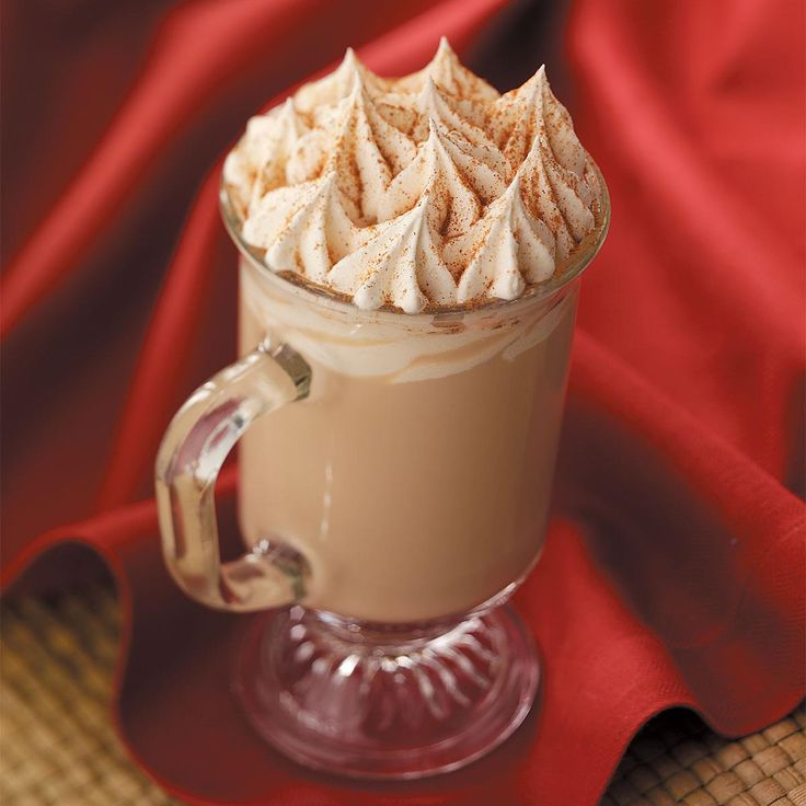 Pumpkin Pie Latte Recipe -Enjoy this espresso drink during the holidays or all year round! With just the right amount of spice, it tastes just like the popular version found at gourmet coffee shops.—Taste of Home Test Kitchen