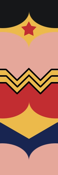 bookmark Wonder Woman by Andrei Lopes, via Behance