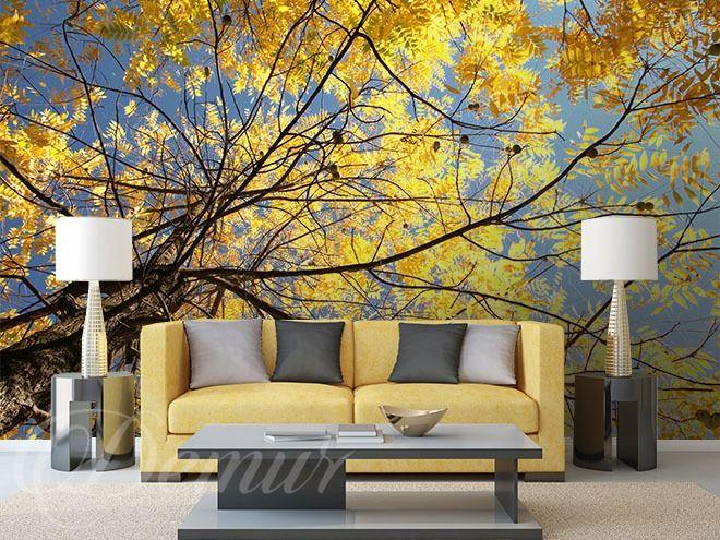 Zlote-drzewo-las-fototapety-demur