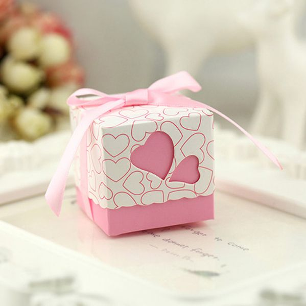 Free Shipping 100pcs Square Wedding Favor Boxes Wedding Candy Box Casamento Wedding Favors And Gifts Event