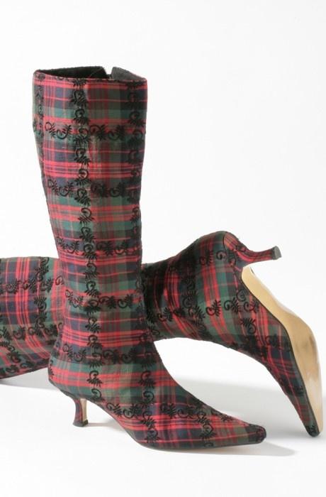 Tartan boots for a Highlands wedding