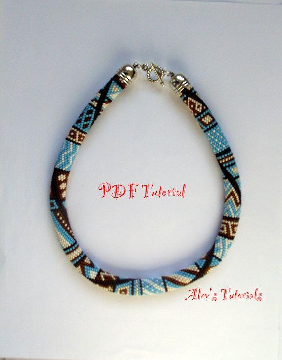 Blue Creeper Crochet Bead Bracelet Pattern by AlevsTutorials, $7.00