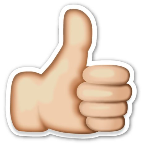 Thumbs Up Sign   EmojiStickers.com