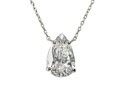Platinum diamond pendant with 1.25ct H Si1 Pear shape Diamond with fine platinum chain 16 long  http://www.luciecampbell.com/necklaces/All/1374--6/  £6800  richard@luciecampbell.com  Lucie Campbell Jewellers Bond Street London  http://www.luciecampbell.com