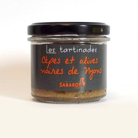 Tartinade au cèpe : cépenade aux olives de Nyons (90g)