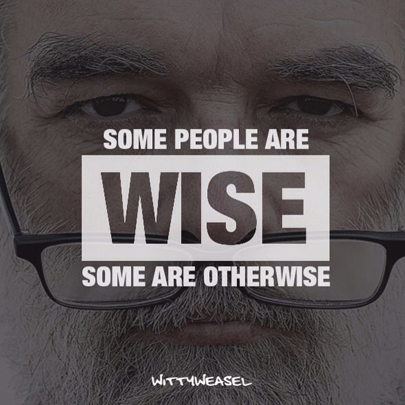 Some people are wise - some are otherwise!