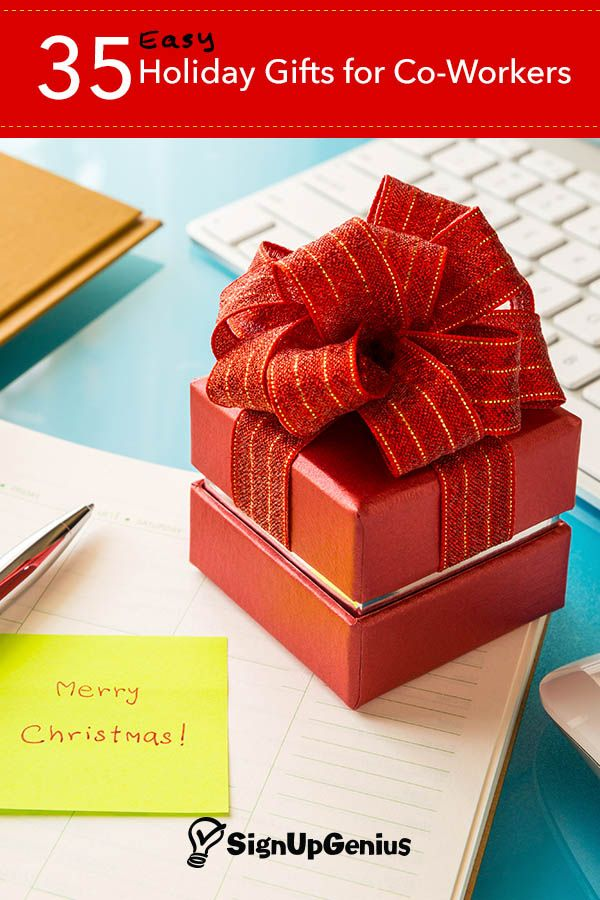 Easy christmas and holiday gift ideas for co workers