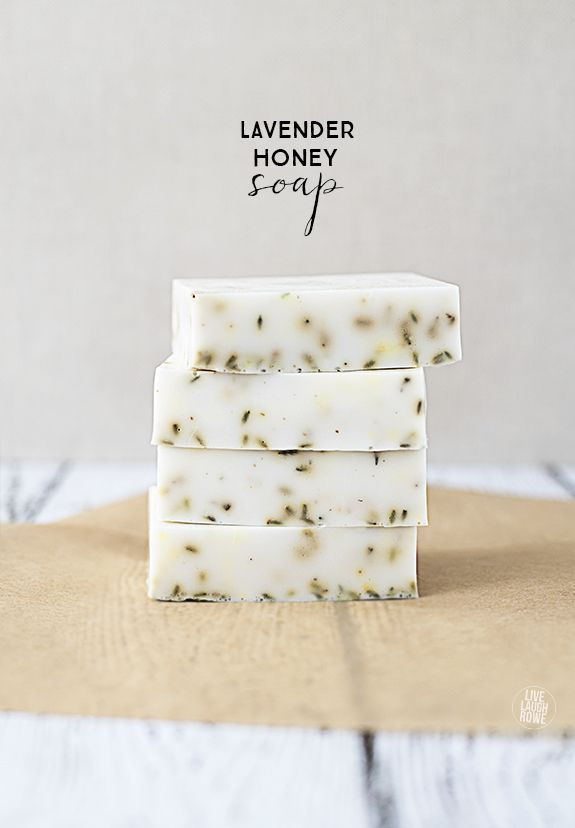 A delicious smelling handmade creation, Lavender Honey Soap. Super simple and great for gift giving!