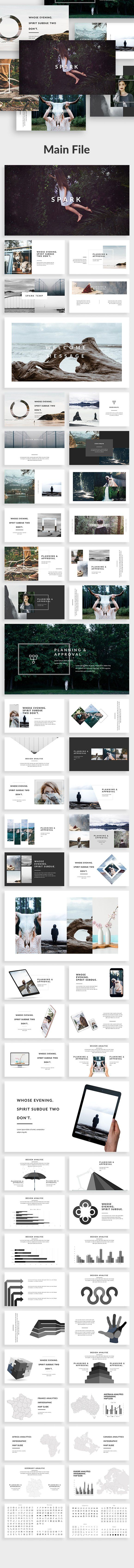 Spark 01 Powerpoint Template by Zin Studio on @creativemarket