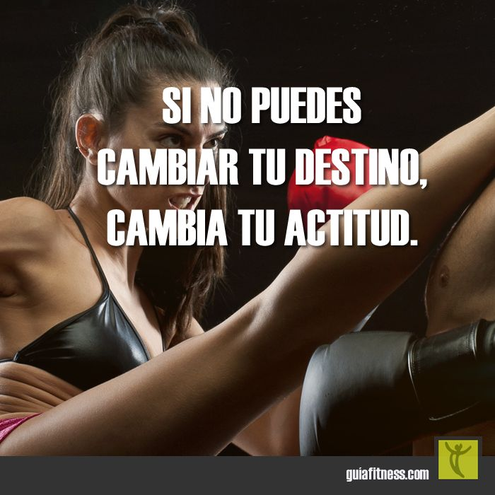 Si no puedes cambiar tu destino, cambia tu actitud #actitud #motivacion #frases #fitness #motivation #quotes #guiafitness #