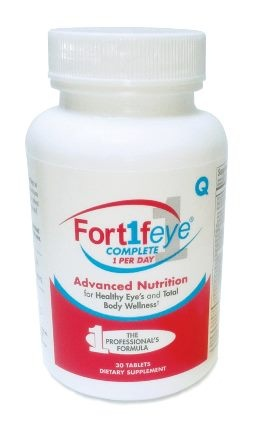 The most potent daily multi vitamin that targets the eye and entire body by Fortifeye.  Multivitamin, eye vitamin, fruit and vegie blend and enzymes in one USP certified tablet.  www.fortifeye.com
