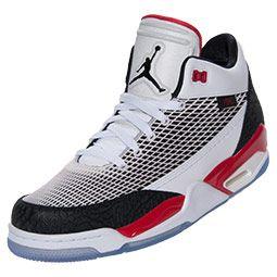 Men\u0026#39;s Jordan Flight Club 80s Basketball Shoes?| FinishLine.com | White/Black/Red | Athletic shoes for all types of fitness | Pinterest | Jordans, ...