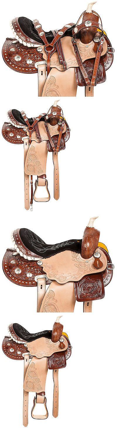 Saddles 47291: New 14 15 16 Studded Pro Barrel Racing Pleasure Trail Western Horse Saddle Tack -> BUY IT NOW ONLY: $284.99 on eBay!