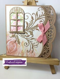 Card made using Sara Signature Shabby Chic collection – Designed by Debbie James. #crafterscompanion