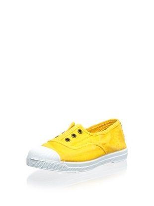 43% OFF Natural World Kid's Ingles Elastico Enz Laceless Sneaker (Mostaza)
