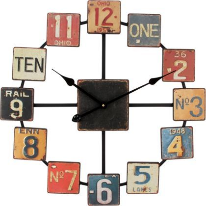 Click to buy Number Plate Wall Clock. #home