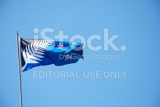 The Silver Fern Flag, New Zealand's new choice of Flag royalty-free stock photo