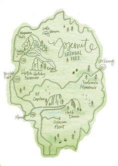Yosemite National Park Map on Behance